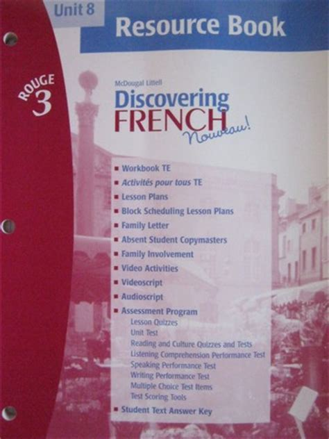 Discovering French Nouveau! Rouge 3 Unit 8 Resource Book