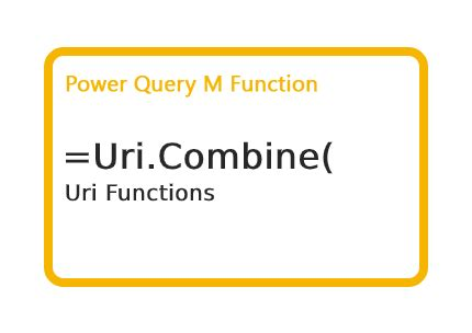 How to use Power Query M Uri