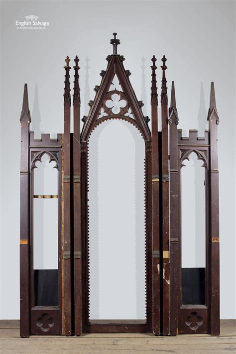 Salvaged Gothic Pine Tracery Arched Panels