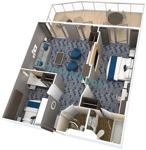 Harmony Of The Seas cabins and suites | CruiseMapper