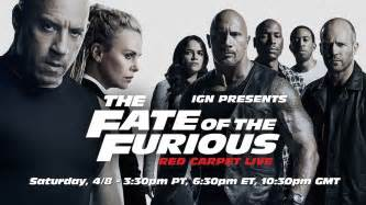 Fate of the Furious Red Carpet Live Stream Presented By