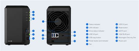 Specification sheet (buy online): Synology DS218+ Synology