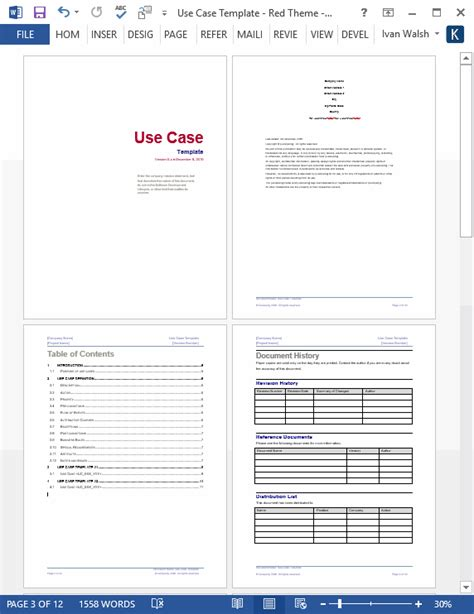 Use Case Template (MS Word+Visio) – Templates, Forms