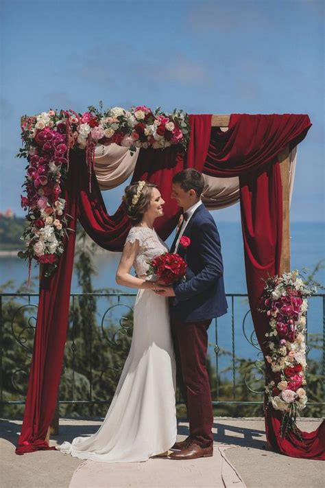 20 Best Floral and Fabric Wedding Arches on Pinterest