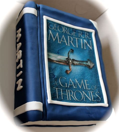 Game of Thrones Book Cake | Game of thrones books, Book