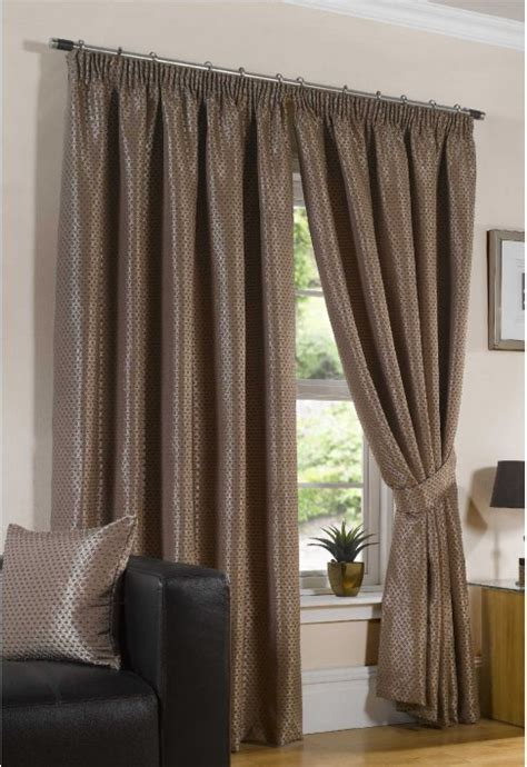 Naples Chocolate Lined Curtains - Woodyatt Curtains Stock