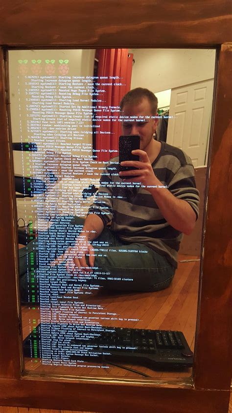 Combine A Computer Monitor And A Mirror To Create